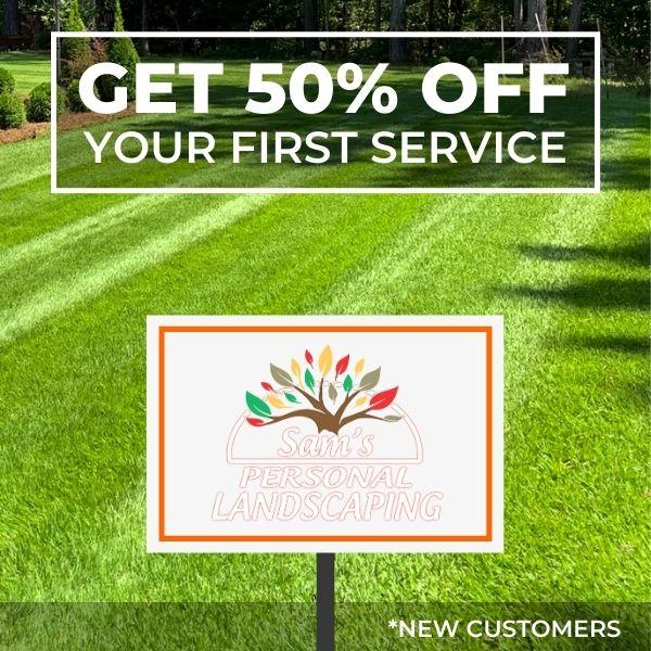 50 percent off first service